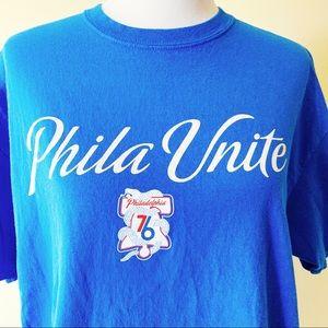 """buy popular a5d57 ff1a8 Mens Philadelphia 76ers """"Phila Unite"""" T-Shirt"""